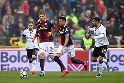 """Foto Filippo Rubin<br /> 11/03/2018 Bologna (Italia)<br /> Sport Calcio<br /> Bologna - Atalanta - Campionato di calcio Serie A 2017/2018 - Stadio """"Renato Dall'Ara""""<br /> Nella foto: ERICK PULGAR  (BOLOGNA)<br /> <br /> Photo by Filippo Rubin<br /> March 11, 2018 Bologna (Italy)<br /> Sport Soccer<br /> Bologna vs Atalanta - Italian Football Championship League A 2017/2018 - """"Renato Dall'Ara"""" Stadium <br /> In the pic: ERICK PULGAR  (BOLOGNA)"""