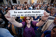 Protests for Rodota' for president