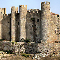 Moors Castle in &Oacute;bidos, Portugal<br />