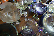 A collection of Mexican glass from a traditional glass factory