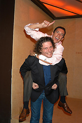 MARCO PIERRE WHITE and jockey FRANKIE DETTORI at a party hosted by Frankie Dettori, Marco Pierre White and Edward Taylor to celebrate the launch of Frankie's Italian Bar & Grill at 3 Yeoman's Row, London SW3 on 2nd September 2004.