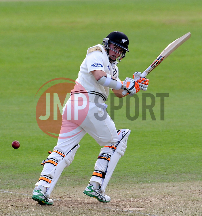 New Zealand's Tom Latham flicks the ball Photo mandatory by-line: Harry Trump/JMP - Mobile: 07966 386802 - 09/05/15 - SPORT - CRICKET - Somerset v New Zealand - Day 2- The County Ground, Taunton, England.