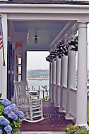 Massachusetts, Martha's Vineyard, Edgartown, Looking through Porch