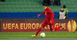 06.12.2012, Stadio Friuli, Udine, ITA, UEFA EL, Udinese Calcio vs FC Liverpool, Gruppe A, im Bild Liverpool's Luis Alberto Suarez Diaz in action against Udinese Calcio during during the UEFA Europa League group A match between Udinese Calcio and Liverpool FC at the Stadio Friuli, Udinese, Italy on 2012/12/06. EXPA Pictures © 2012, PhotoCredit: EXPA/ Propagandaphoto/ David Rawcliffe..***** ATTENTION - OUT OF ENG, GBR, UK *****
