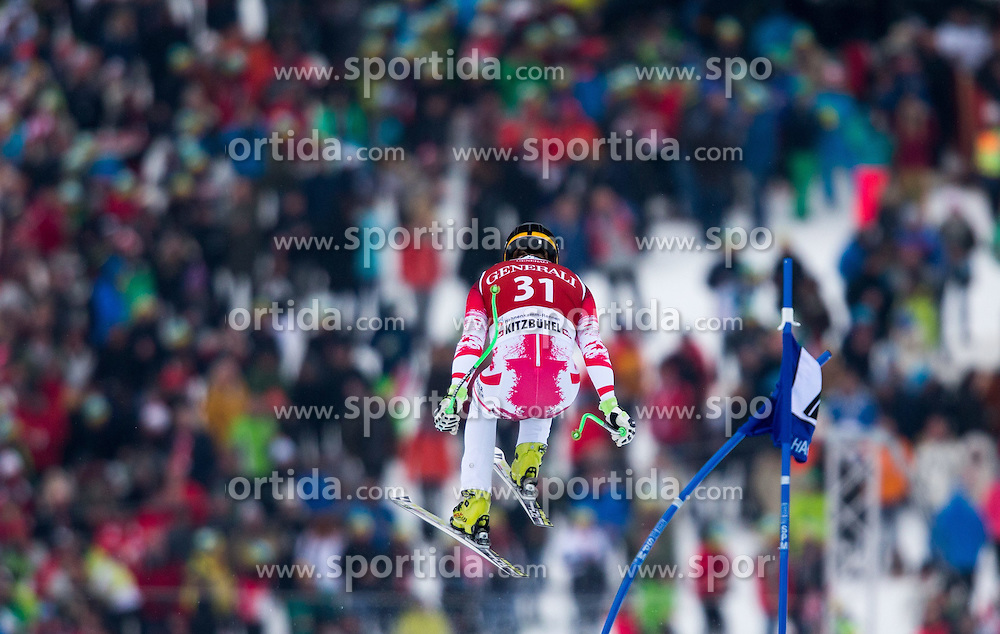 23.01.2015, Streif, Kitzbuehel, AUT, FIS Ski Weltcup, Supercombi Super G, Herren, im Bild Markus Duerager (AUT) // Markus Duerager of Austria in action during the men's Super Combined Super-G of Kitzbuehel FIS Ski Alpine World Cup at the Streif Course in Kitzbuehel, Austria on 2015/01/23. EXPA Pictures © 2015, PhotoCredit: EXPA/ Johann Groder