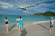 Baie de St. Jean. Small airplanes starting and landing at St. Barth's tiny airport next to the shore are always a thrilling view.
