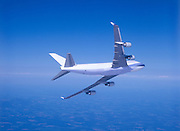 Airplane banking away