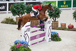Lucy Davis, (USA), Barron - Team & Individual Competition Jumping Speed - Alltech FEI World Equestrian Games™ 2014 - Normandy, France.<br /> © Hippo Foto Team - Leanjo De Koster<br /> 02-09-14