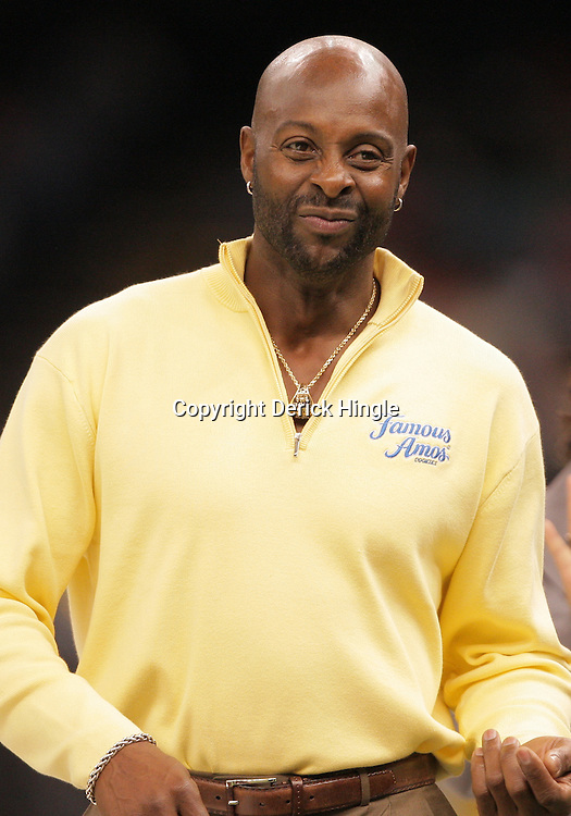 2008 November, 29: Former NFL star Jerry Rice on the sideline during a 29-14 win by Grambling State over Southern University during the 35th annual State Farm Bayou Classic at the Louisiana Superdome in New Orleans, LA.  .