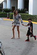 Lauren Silverman takes a beachside stroll Miami Beach, FL, <br /> ©Exclusivepix