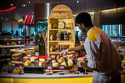 DUBAI, UAE - DECEMBER 18, 2015: Cheese corner at the Saffron restaurant, West Tower, Atlantis The Palm, The Palm Jumeirah.