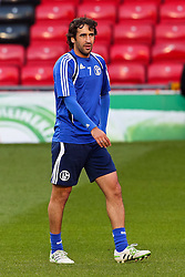 03.05.2011, Old Trafford, Manchester, ENG, UEFA CL, Halbfinale Rueckspiel, Manchester United (ENG) vs Schalke 04 (GER), Abschlusstraining, im Bild: Raul (Schalke #7)   // during the UEFA CL, Semi Final second leg, Manchester United (ENG) vs Schalke 04 (GER), at the Old Trafford, Manchester, Training, 03/05/2011 EXPA Pictures © 2011, PhotoCredit: EXPA/ nph/  Mueller *** Local Caption ***       ****** out of GER / SWE / CRO  / BEL ******