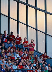 BLACKBURN, ENGLAND - Thursday, July 19, 2018: Liverpool supporters during a preseason friendly match between Blackburn Rovers FC and Liverpool FC at Ewood Park. (Pic by David Rawcliffe/Propaganda)
