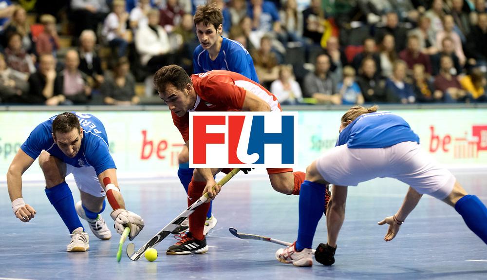 BERLIN - Indoor Hockey World Cup<br /> Quarterfinal 1: Iran - Czech Republic<br /> foto: NOROUZZADEH Reza.<br /> WORLDSPORTPICS COPYRIGHT FRANK UIJLENBROEK