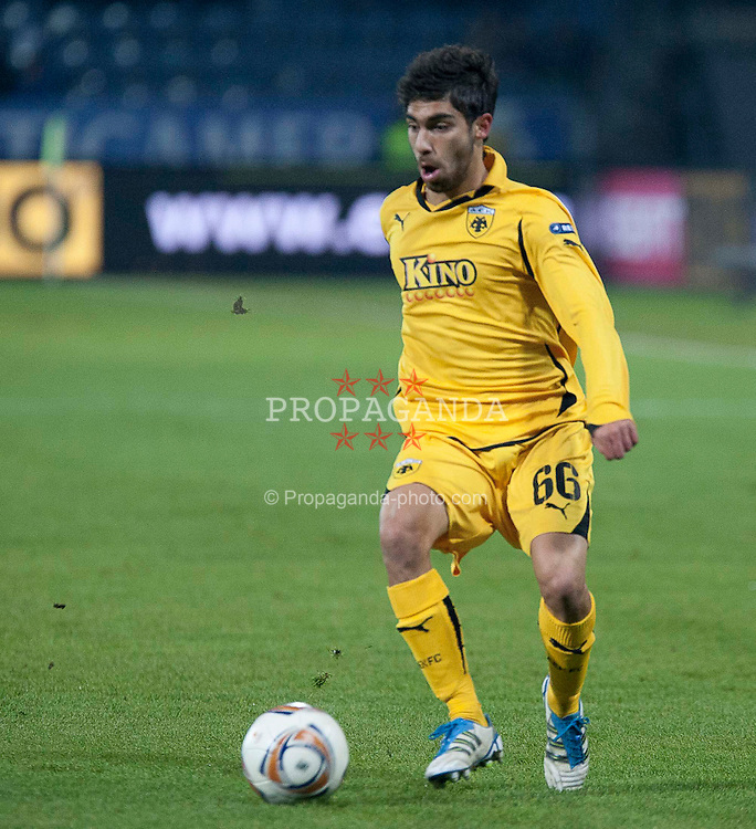 14.12.2011, UPC Arena, Graz, AUT, UEFA Europa League , Sturm Graz vs AEK Athen FC, im Bild Nikos Englezou (AEK Athen FC, Defender, #66) // during UEFA Europa League football game between Sturm Graz and AEK Athens FC at UPC Arena in Graz, Austria on 14/12/2011. EXPA Pictures © 2011, PhotoCredit: EXPA/ E. Scheriau