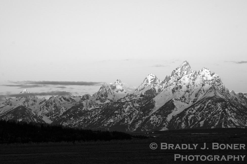 Sunrise on Teton Range, Grand Teton National Park
