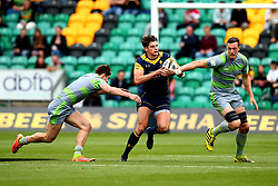 Ben Howard of Worcester Warriors runs with the ball - Mandatory by-line: Robbie Stephenson/JMP - 29/07/2017 - RUGBY - Franklin's Gardens - Northampton, England - Worcester Warriors v Newcastle Falcons - Singha Premiership Rugby 7s