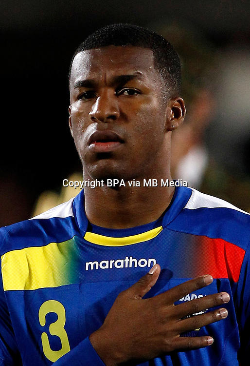 Football Fifa Brazil 2014 World Cup Matchs / South America - Group Matches /<br /> Chile vs Ecuador 2-1  ( Nacional Stadium Julio Martinez Pradanos - Santiago De Chile ,Chile )<br /> Fricson Erazo of Ecuador , during the match between Chile and Ecuador