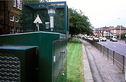 Air monitoring equipment at roadside; Haringey, North London UK