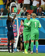 Jasper Cillessen of Netherlands is replaced by Tim Krul during the 2014 FIFA World Cup match at the Itaipava Arena Fonte Nova, Nazare, Bahia<br /> Picture by Stefano Gnech/Focus Images Ltd +39 333 1641678<br /> 05/07/2014