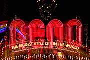 Image of the Reno Arch in Reno, Nevada, American Southwest