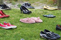 Tauranga-Shoes for Suicide Rally, Mt Maunganui