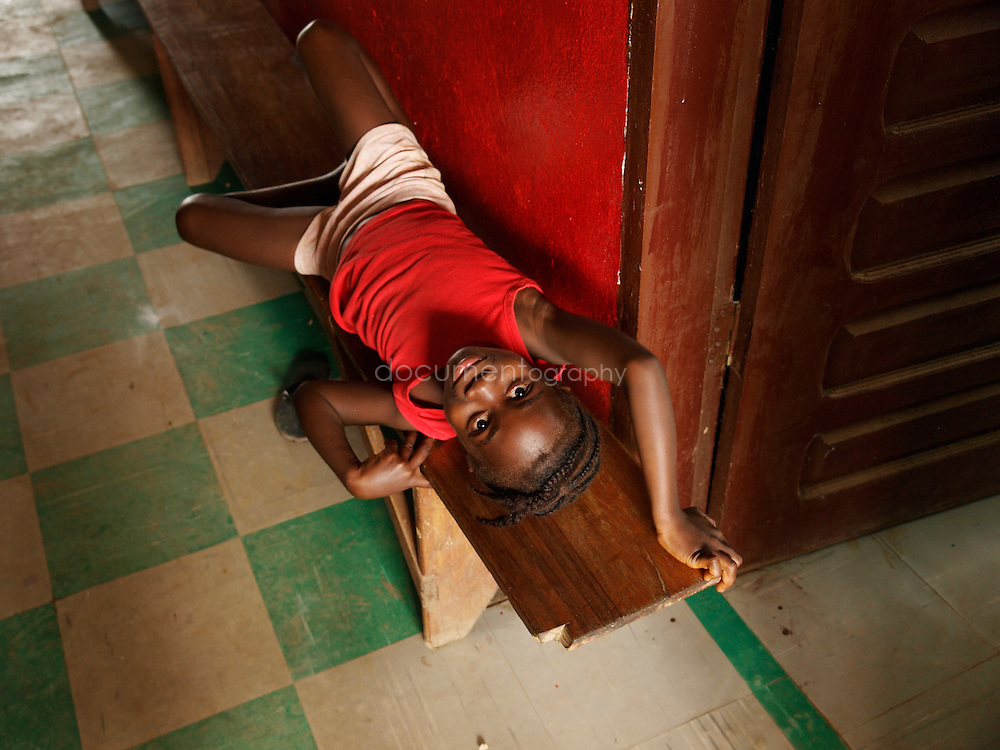 A girl at kingsville clinic, Kingsville #7, Liberia.