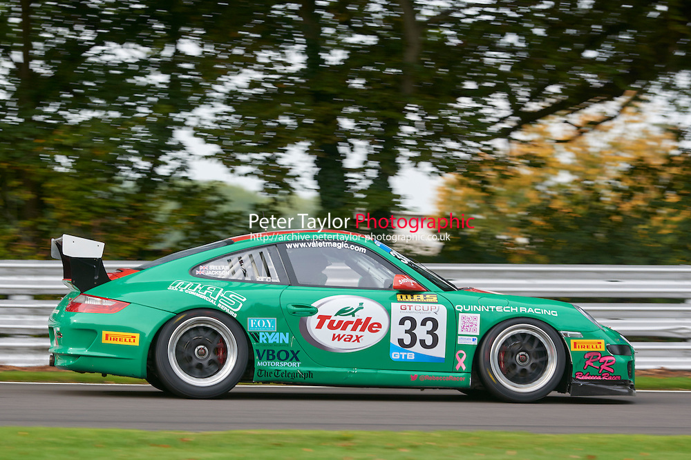 #33 Rebecca JACKSON/Mike SELLAR Porsche 997 GT3 Cup during GT Cup - Qualifying as part of the MSVR Oulton Park 10th October 2015 at Oulton Park, Little Budworth, Cheshire, United Kingdom. October 10 2015. World Copyright Taylor/PSP. Copy of publication required for printed pictures.  Every used picture is fee-liable. http://archive.petertaylor-photographic.co.uk