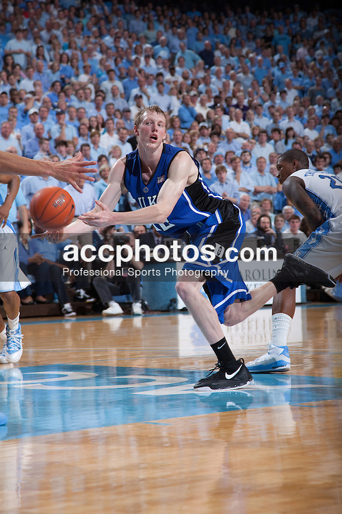 08 March 2009: Duke Blue Devils forward Kyle Singler (12) during a 79-71 loss to the North Carolina Tar Heels at the Dean Smith Center in Chapel Hill, NC.