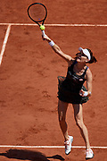 Paris, France - 2017 June 01: Agnieszka Radwanska from Poland smashes during her women's single match second round during tennis Grand Slam tournament The French Open 2017 (also called Roland Garros) at Stade Roland Garros on June 01, 2017 in Paris, France.<br /> <br /> Mandatory credit:<br /> Photo by &copy; Adam Nurkiewicz<br /> <br /> Adam Nurkiewicz declares that he has no rights to the image of people at the photographs of his authorship.<br /> <br /> Picture also available in RAW (NEF) or TIFF format on special request.<br /> <br /> Any editorial, commercial or promotional use requires written permission from the author of image.