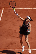Paris, France - 2017 June 01: Agnieszka Radwanska from Poland smashes during her women's single match second round during tennis Grand Slam tournament The French Open 2017 (also called Roland Garros) at Stade Roland Garros on June 01, 2017 in Paris, France.<br /> <br /> Mandatory credit:<br /> Photo by © Adam Nurkiewicz<br /> <br /> Adam Nurkiewicz declares that he has no rights to the image of people at the photographs of his authorship.<br /> <br /> Picture also available in RAW (NEF) or TIFF format on special request.<br /> <br /> Any editorial, commercial or promotional use requires written permission from the author of image.