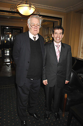 Left to right, RICHARD INGRAMS and KYLE PAISLEY son of the Rev.Ian Paisley at the 2008 Oldie of The year Awards and lunch held at Simpsons in The Strand, London on 11th March 2008.<br />