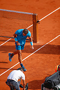Rafael NADAL (ESP) won the game and had celebration, reacts during the Roland Garros French Tennis Open 2018, day 13, on June 8, 2018, at the Roland Garros Stadium in Paris, France - Photo Stephane Allaman / ProSportsImages / DPPI