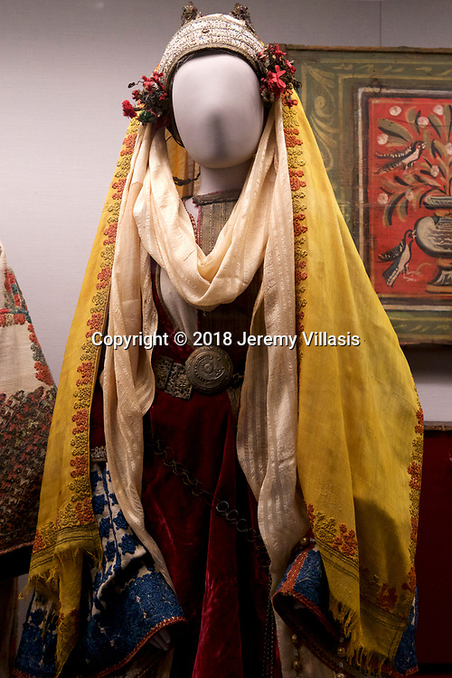 Bridal costume of Astypalaia, Dodecanese. Benaki Museum, Athens.