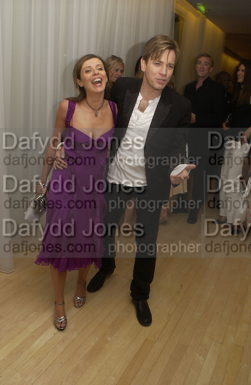 "Ewan  and Eve McGregor at post - premiere party for   ""The Island"" at the Sanderson, London. 7 August 2005. , ONE TIME USE ONLY - DO NOT ARCHIVE  © Copyright Photograph by Dafydd Jones 66 Stockwell Park Rd. London SW9 0DA Tel 020 7733 0108 www.dafjones.com"