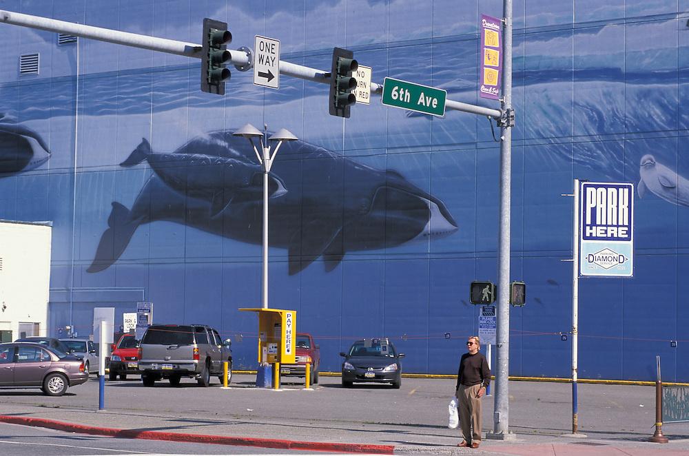 Downtown Anchorage, Alaska, USA