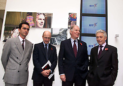 Dimension Data Result BT.Left to Right: Pierre Danon CEO BT retail, Philip Hampton Group Finance Director, Sir Iain Vallance, Chairman, Sir Peter Bonfield chief executive, November 9, 2000. Photo by Andrew Parsons / i-Images.