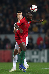 November 20, 2018 - Guimaraes, Guimaraes, Portugal - Danilo Pereira defender of Portugal (R) vies with Arkadiusz Milik forward of Poland (L) during the UEFA Nations League football match between Portugal and Poland at the Dao Afonso Henriques stadium in Guimaraes on November 20, 2018. (Credit Image: © Dpi/NurPhoto via ZUMA Press)