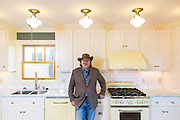 Architect Mark Zweig at a home he designed in Fayetteville, Arkansas.<br /> <br /> Photo by Beth Hall