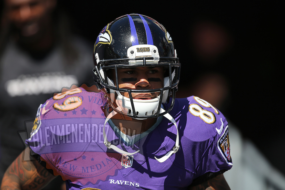 TAMPA, FL - OCTOBER 12:  Wide receiver Steve Smith #89 of the Baltimore Ravens is seen during an NFL football game at Raymond James Stadium on October 12, 2014 in Tampa, Florida. (Photo by Alex Menendez/Getty Images) *** Local Caption ***  Steve Smith