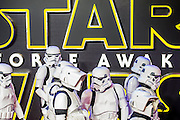 Re-enactors initially parade through and are then penned - The European Premiere of STAR WARS: THE FORCE AWAKENS - Odeon, Empire and Vue Cinemas, Leicester Square, London.