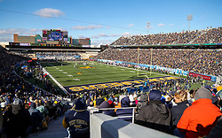 Nov 10, 2018; Morgantown, WV, USA; A general view at Mountaineer Field at Milan Puskar Stadium between the West Virginia Mountaineers and the TCU Horned Frogs. Mandatory Credit: Ben Queen-USA TODAY Sports
