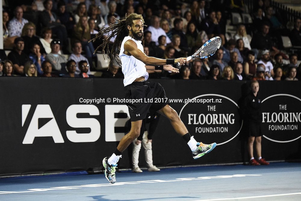 Dustin Brown during the ASB Classic ATP Mens Tournament Day 1. ASB Tennis Centre, Auckland, New Zealand. Monday 9 January 2017. ©Copyright Photo: Chris Symes / www.photosport.nz