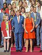 King Willem-Alexander and Queen Maxima with Dutch Olympic Medal winners, The Hague 25-08-2016