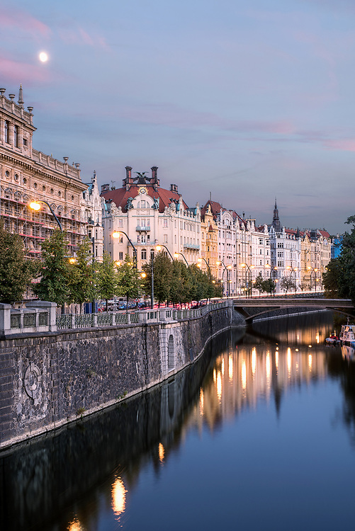 City of Prague at Dusk