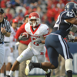 Oct 31, 2009; East Hartford, CT, USA; Rutgers wide receiver Tim Brown (2) runs for yards after a reception during first half Big East NCAA football action between Rutgers and Connecticut at Rentschler Field.