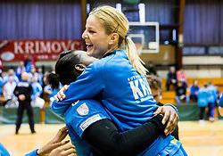 Aneta Benko of RK Krim Mercator celebrates after the handball match between RK Krim Mercator and ZRK Z'Dezele Celje in Last Round of Slovenian National Championship 2016/17, on April 18, 2017 in Arena Galjevica, Ljubljana, Slovenia. Photo by Vid Ponikvar / Sportida