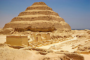 EGYPT, ANCIENT MONUMENTS Saqqara; site 32 kms from Cairo, Zoser's funerary complex and the Stepped Pyramid from 2700 BC