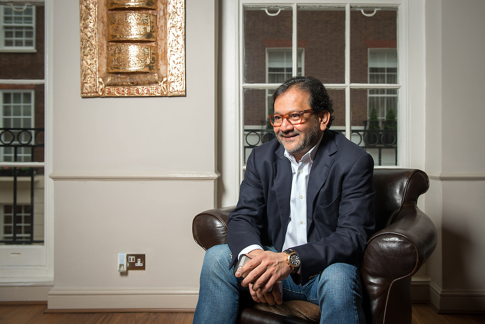 London-based businessman Saifee Durbar in his office in Mayfair, London, UK.