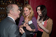 IAN HISLOP; JESSICA HATCHER; ? MACKLIN, The Man Booker Best Of Beryl Prize, The Union, 50 Greek Street, London, 19 April 2011. Party celebrates special prize created by the Booker Foundation in honour of the late Beryl Bainbridge who died in July 2010.   -DO NOT ARCHIVE-© Copyright Photograph by Dafydd Jones. 248 Clapham Rd. London SW9 0PZ. Tel 0207 820 0771. www.dafjones.com.